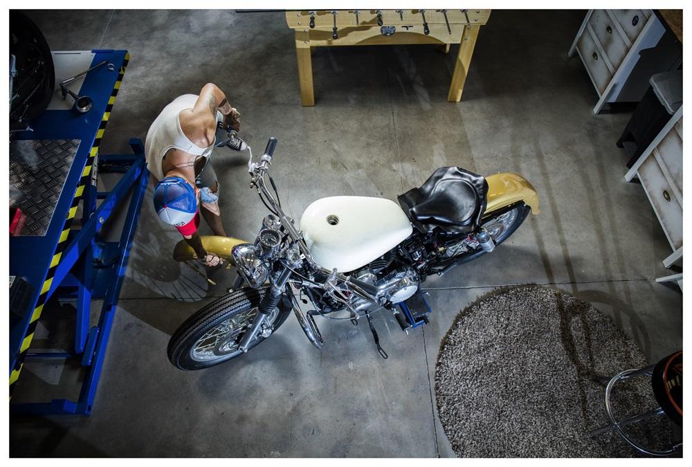 UFO Garage: кастом Harley-Davidson Sportster Replica 1957
