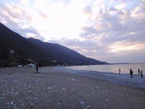 У моря Чёрного, в Абхазии, время зимнее, Новогоднее (5).JPG