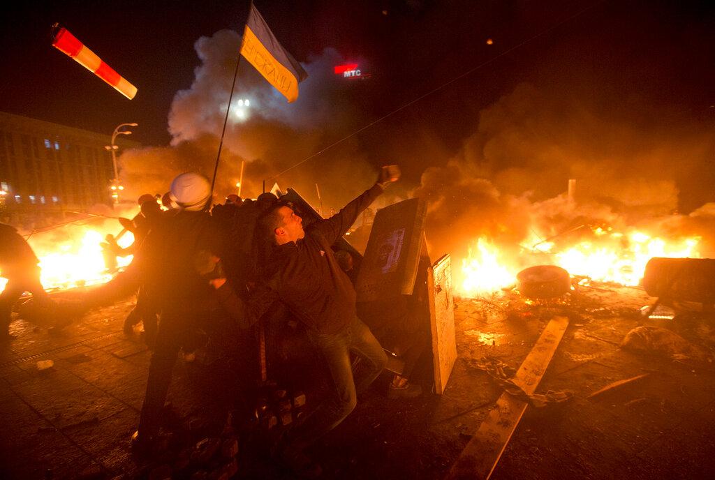 Pro-EU Ukrainians protest in Kiev