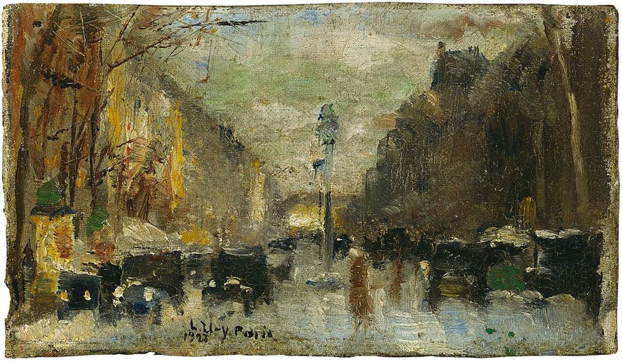 Бульвар в Париже, 1928, Лессер Ури (1861-1931)