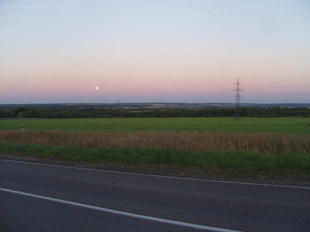 Луна над Клинско-Дмитровской грядой