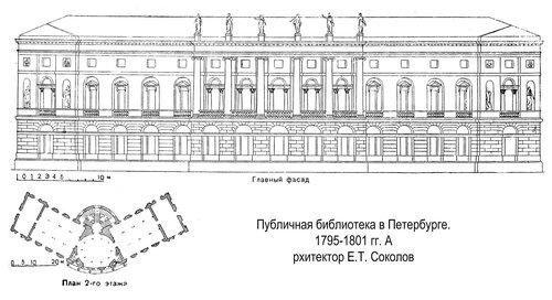 Публичная библиотека в Петербурге, чертежи