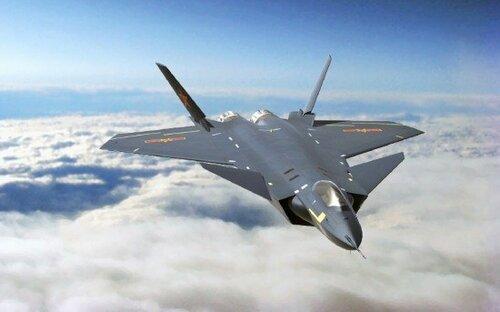 Так будет выглядеть китайский стелс-истребитель J-20. Китайская пресса сообщает о 2-х прототипах этого аппарата