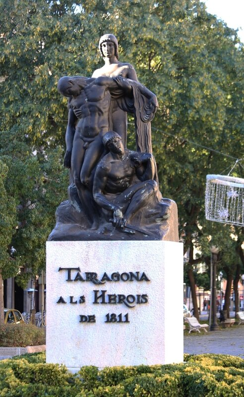 Tarragona. The monument to the heroes of 1811.