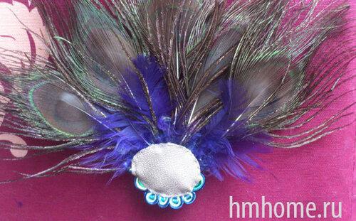 Мастер-класс по изготовлению заколки из павлиньих перьев