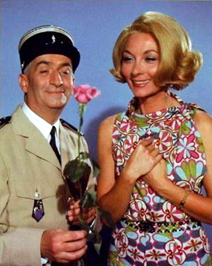 Луи де Фюнес с женой кинематографической.jpg