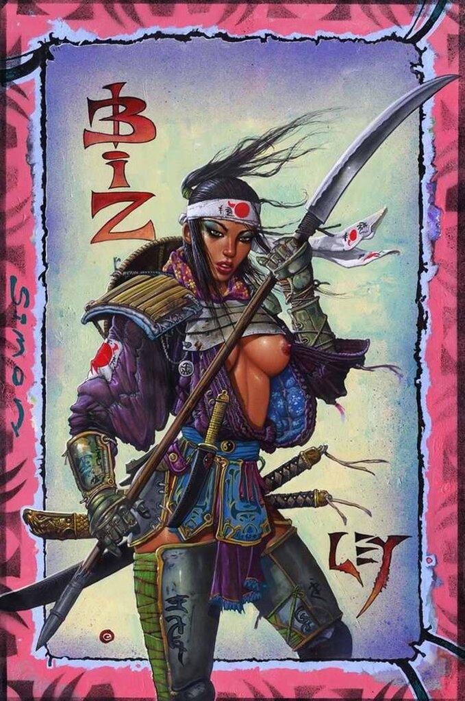 Накано Taкeкo (японская женщина-самурай) - Simon Bisley