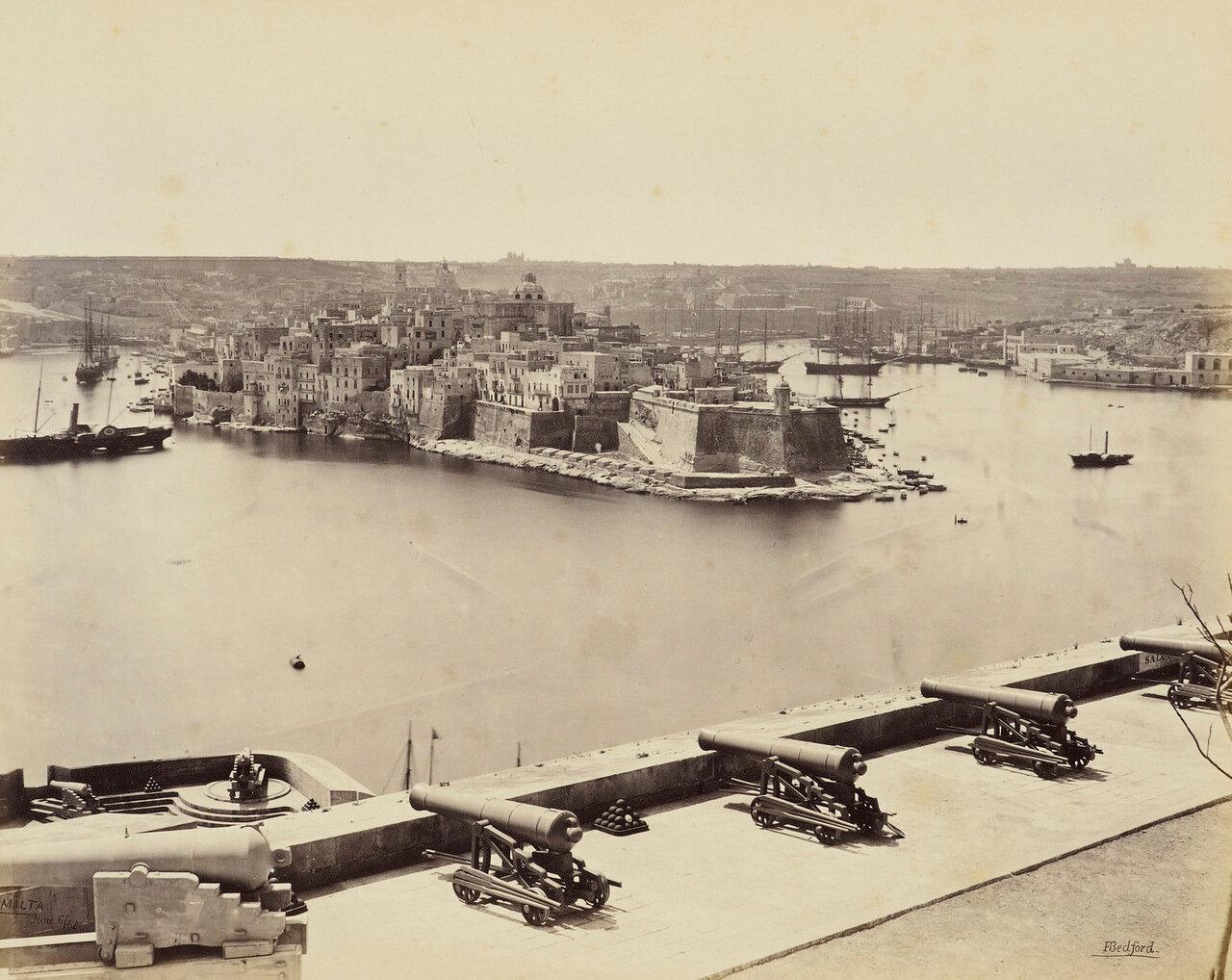 6 июня 1862. Вид из Верхней Баракки. Валлетта, Мальта