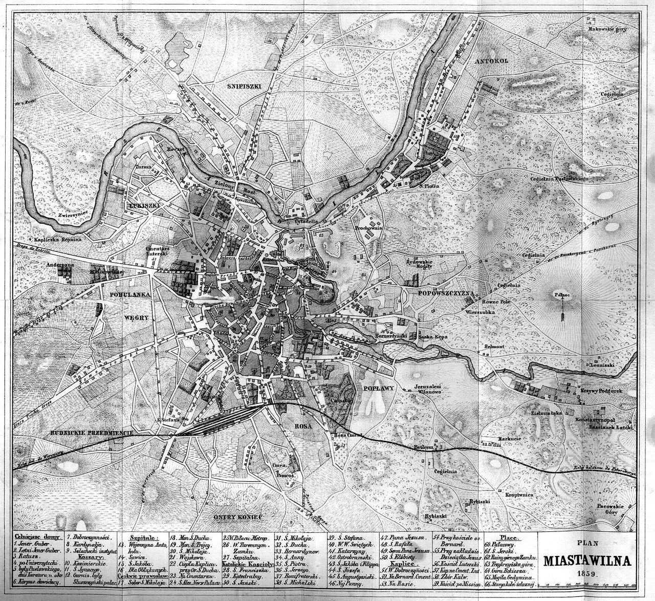 1859. План Вильны