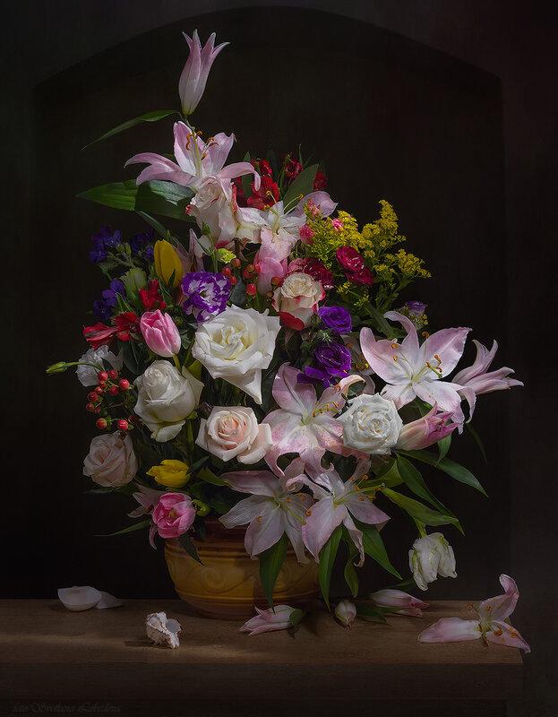 Букет цветов в стиле голландских живописцев