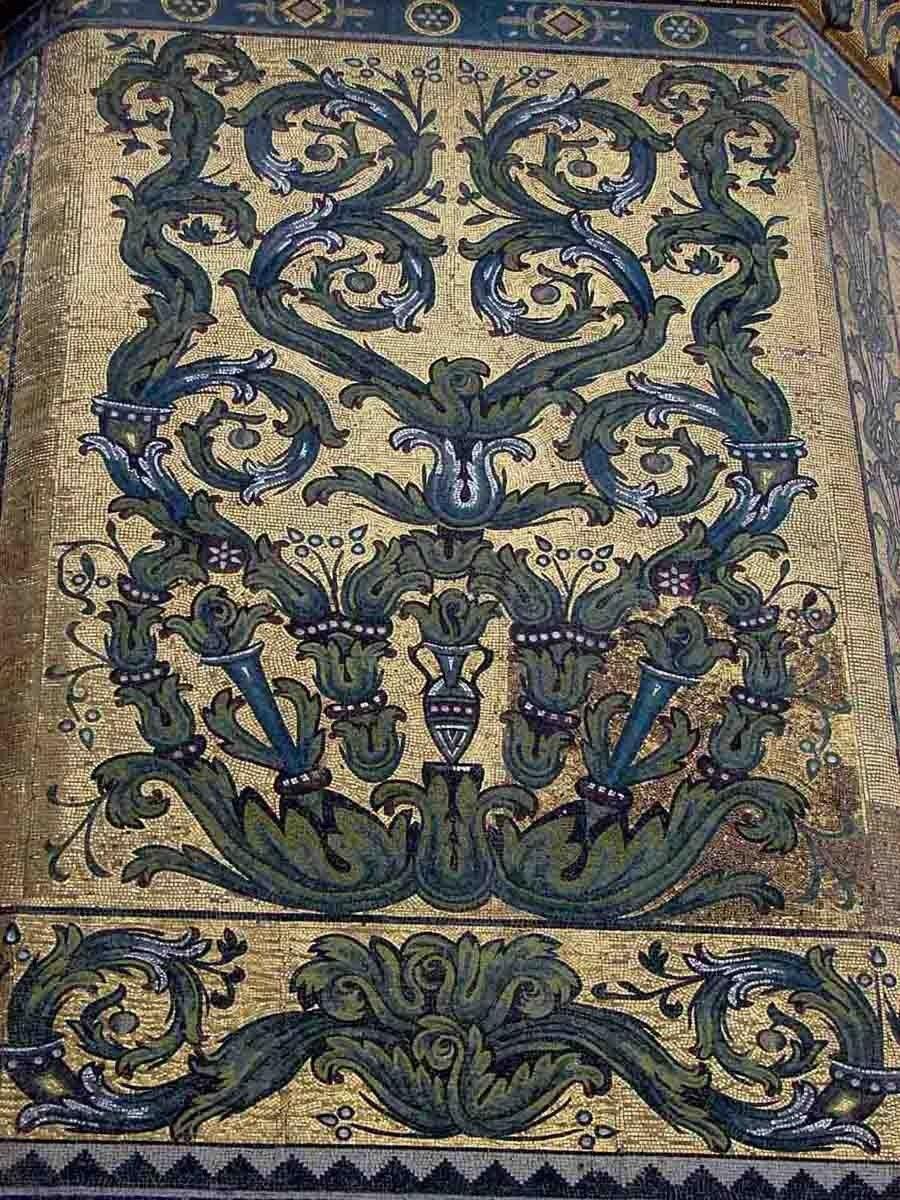 Закаблуцкая Елена - мозаики в мечети Омейядов в Дамаске