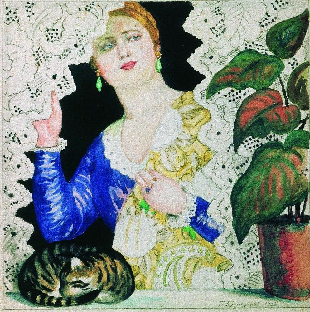 Русская девушка у окна. 1923.jpg