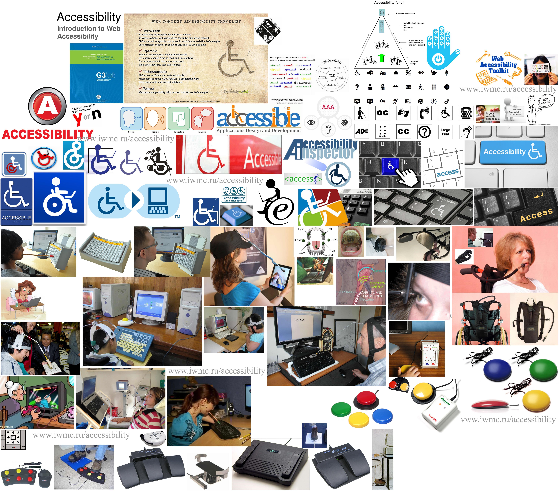 Accessibility логотипы инваграфика ИКТ для инвалидов