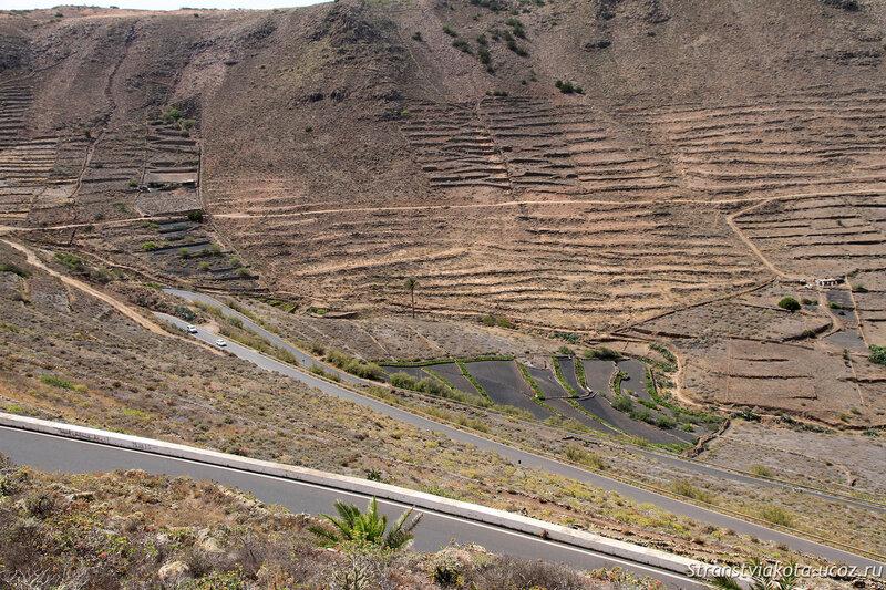Лансароте, дорога на север
