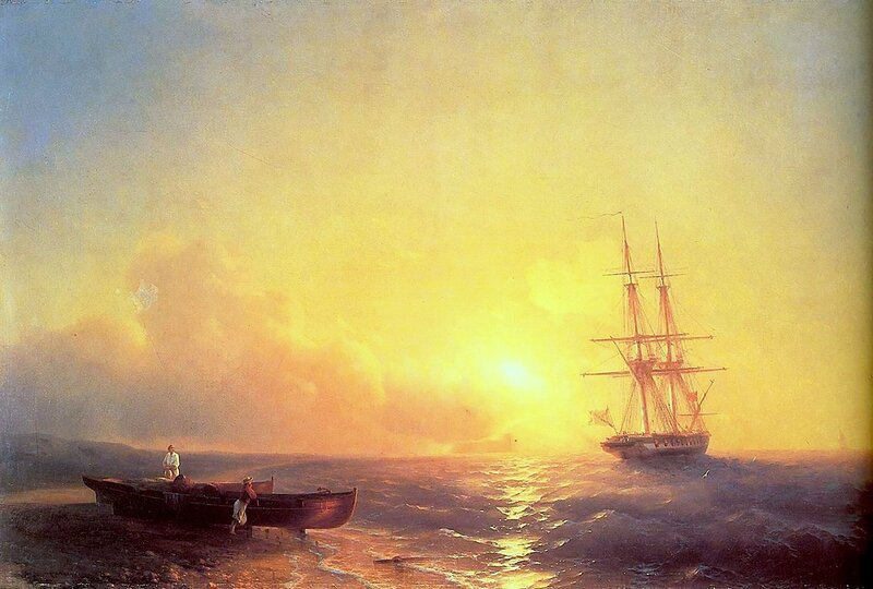 Рыбаки на берегу моря, Айвазовский Иван Константинович