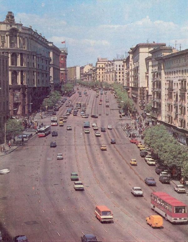 Москва.  Час пик  80-ые