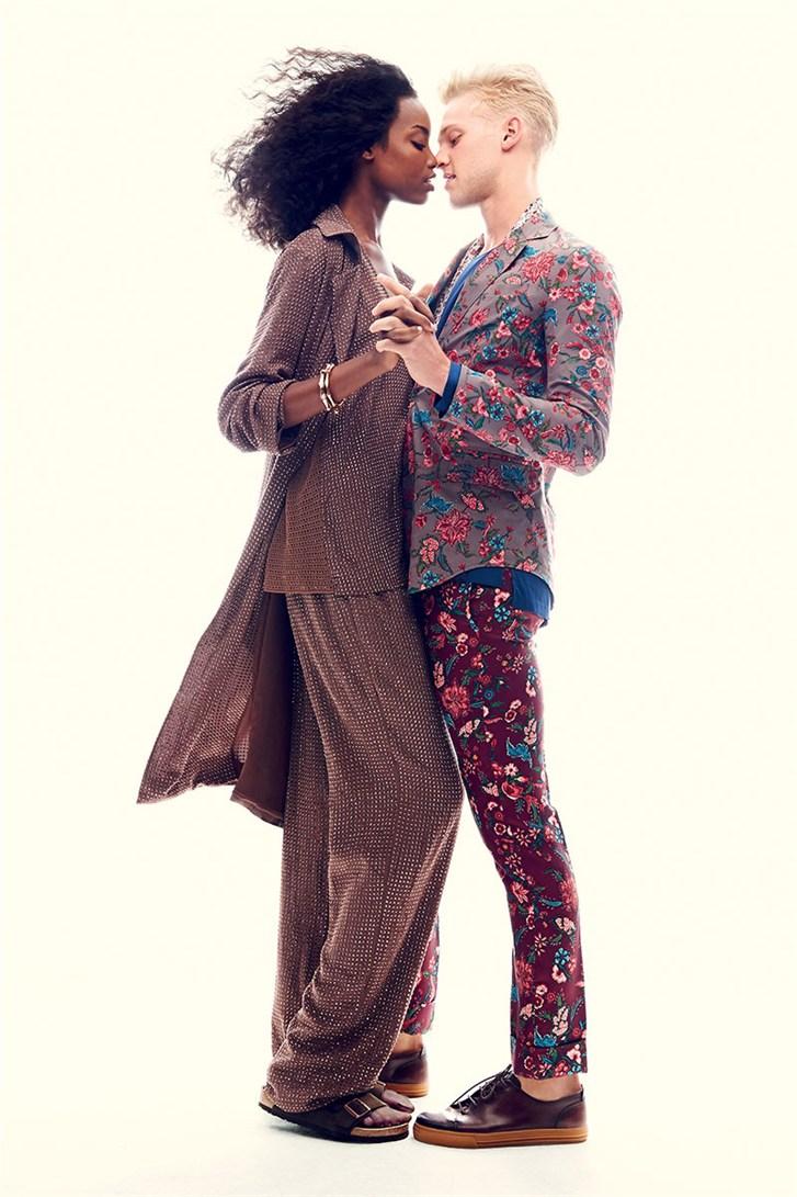 Мария Боргес и Кларк Уэсли / Maria Borges & Clark Wesley - Romeo & Juliet by Max von Gumppenberg & Patrick Bienert in Harper's Bazaar US november 2013
