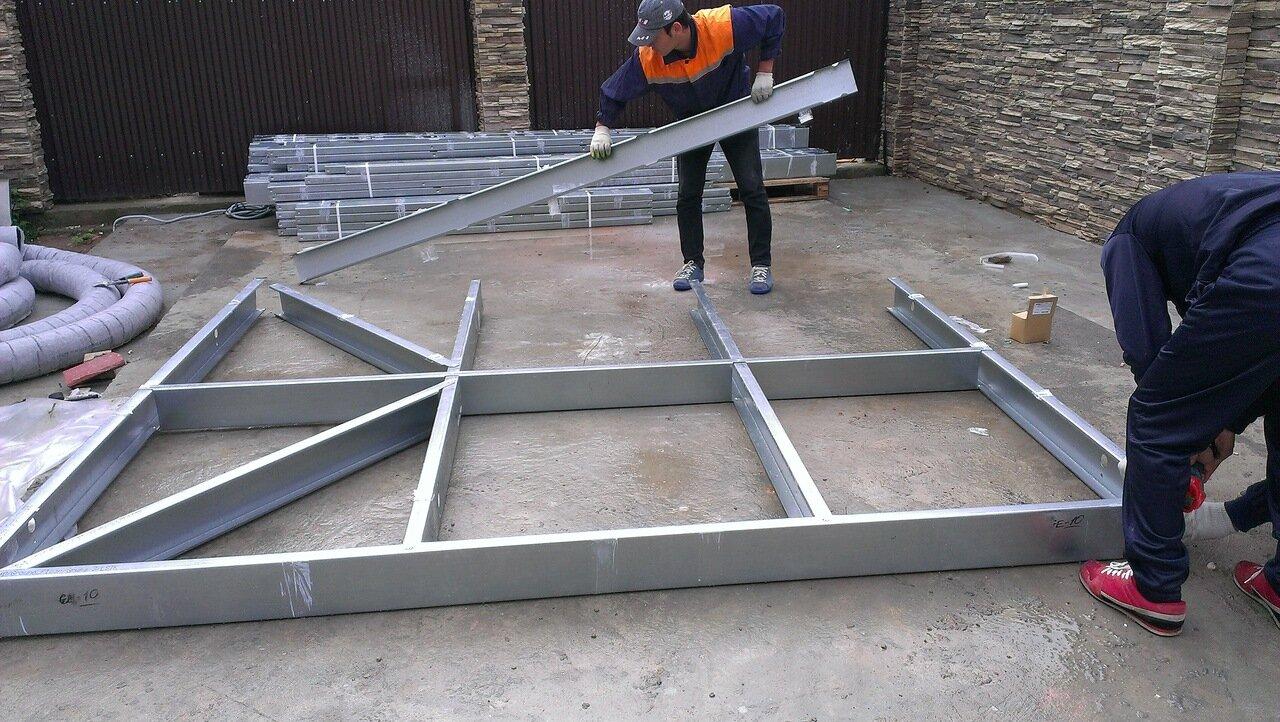 Как построить гараж из металлопрофиля своими руками - пошаго.