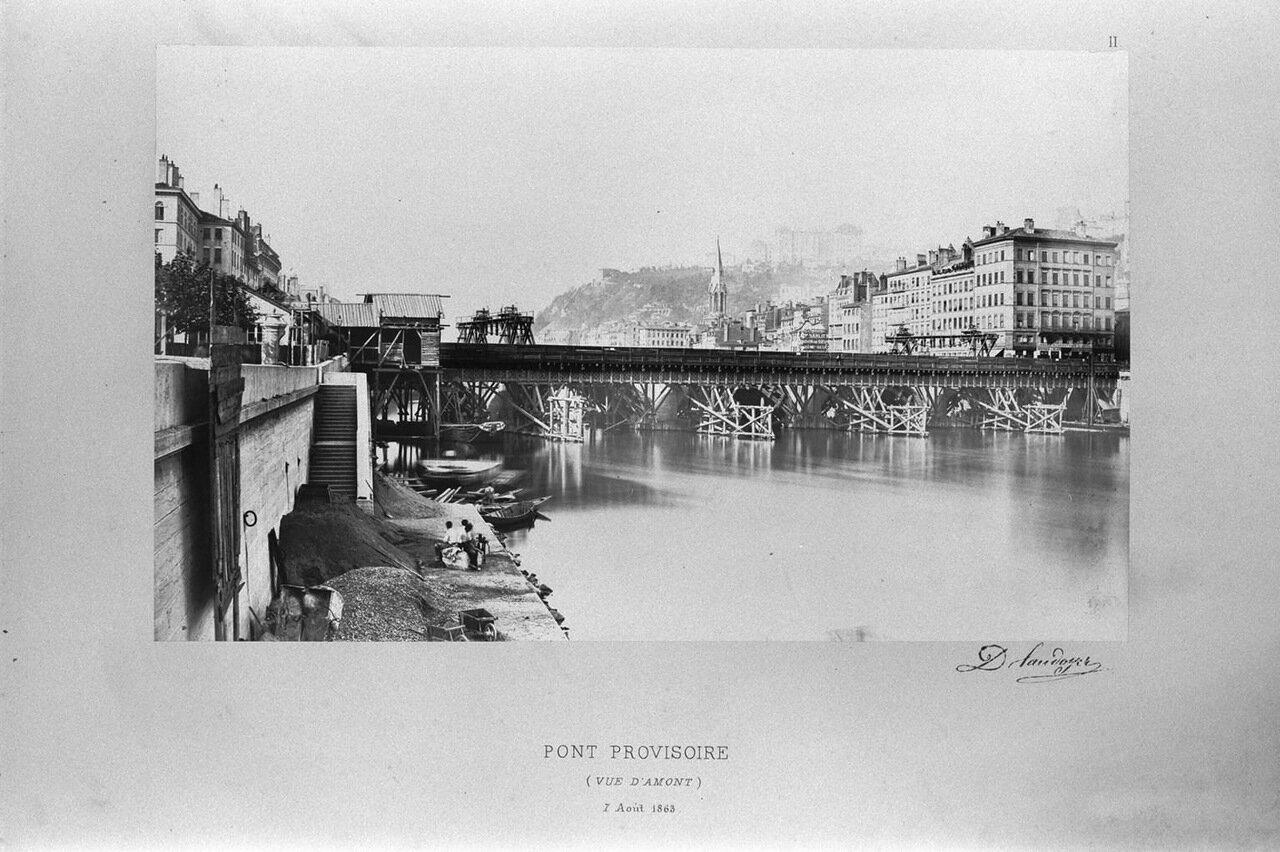 Временный мост. 7 августа 1863 года
