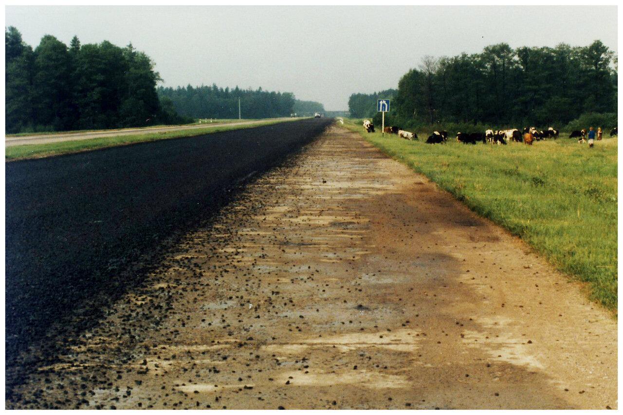 Где-то в Беларуси (главное шоссе между Москвой и Варшавой) июнь 1985 года