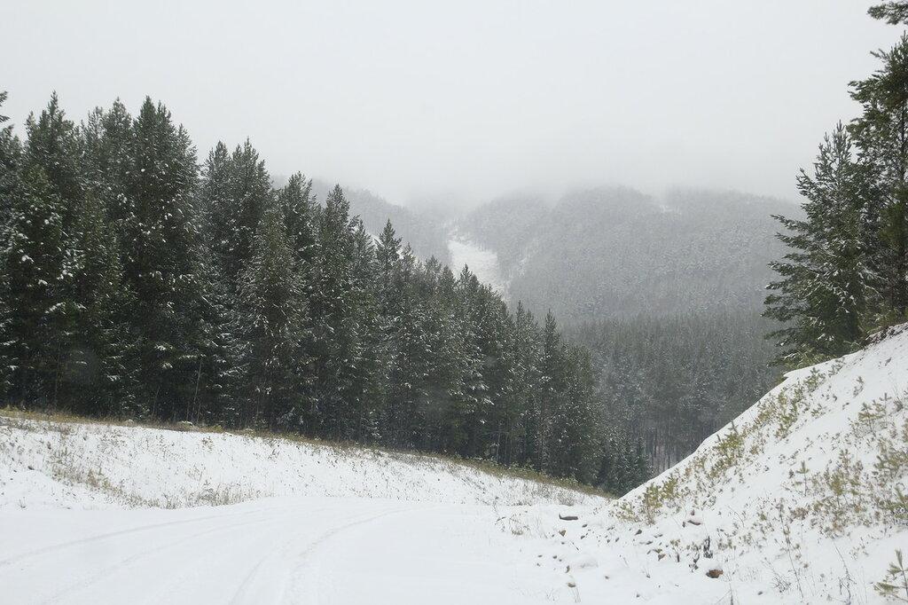 гора Копанец в тумане