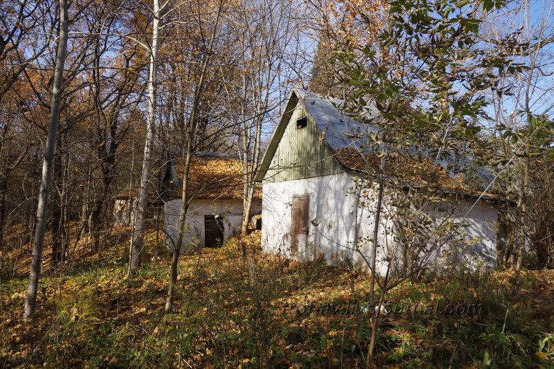 Хозпостройки справа от дома, Усадьба Любвино, Тучково