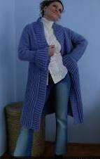 Моя голубая мечта! Вяжем пальто