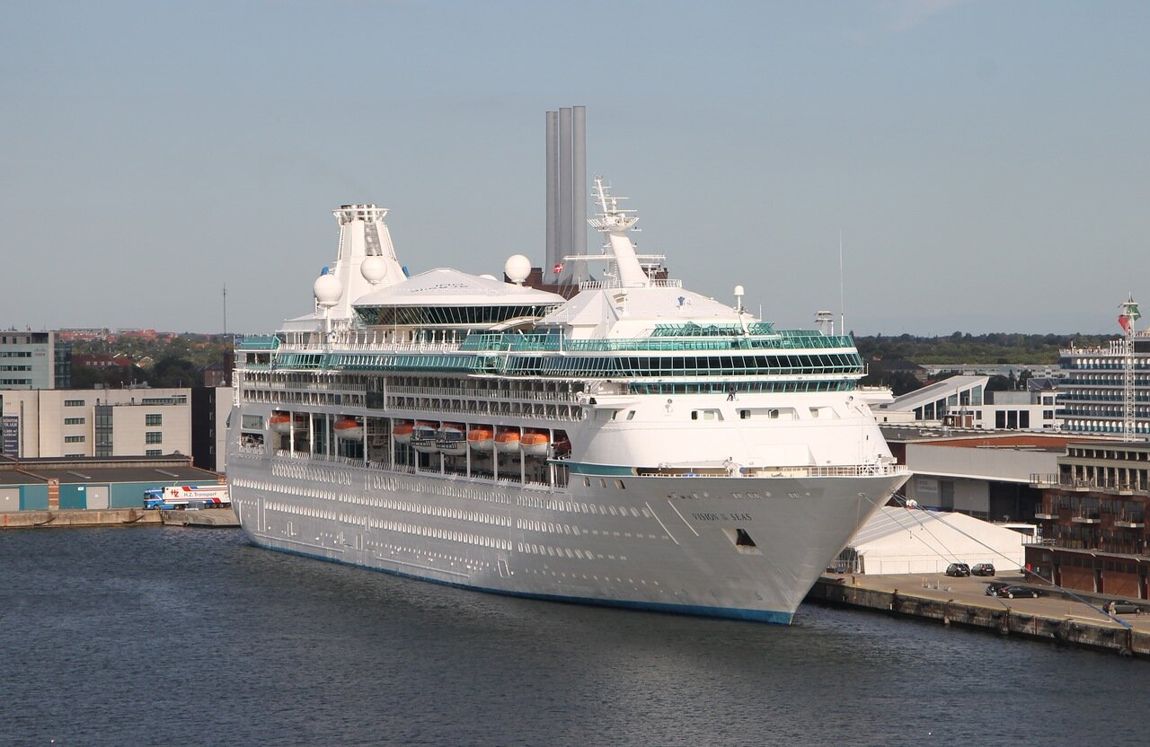 port of Copenhagen, Cruise ship Vision of the Seas. Port Copenhagen,