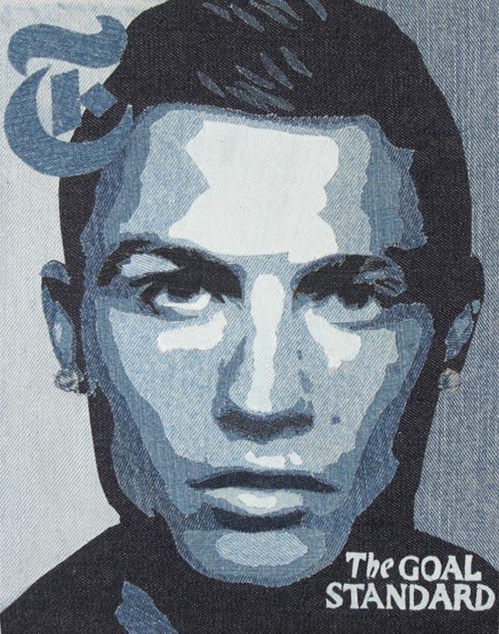 Ian Berry aka Denimu - картины из старых тёртых джинсов