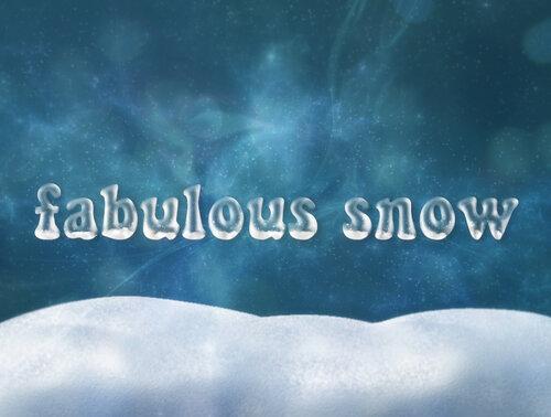 Сказочный снег