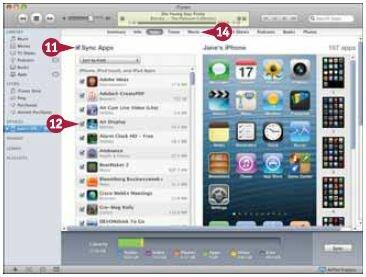 Установите галочку напротив каждого приложения, которое вы хотите синхронизировать с iPhone