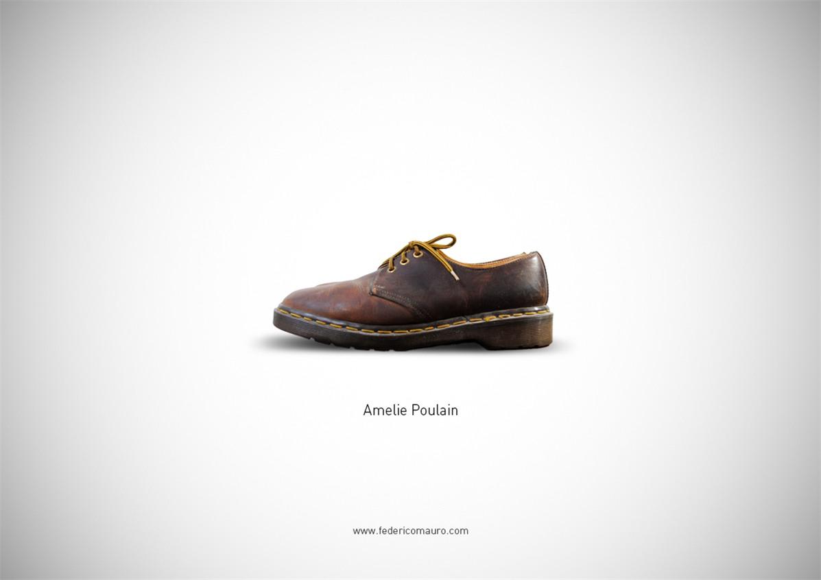 Знаменитая обувь культовых персонажей / Famous Shoes by Federico Mauro - Amelie Poulain