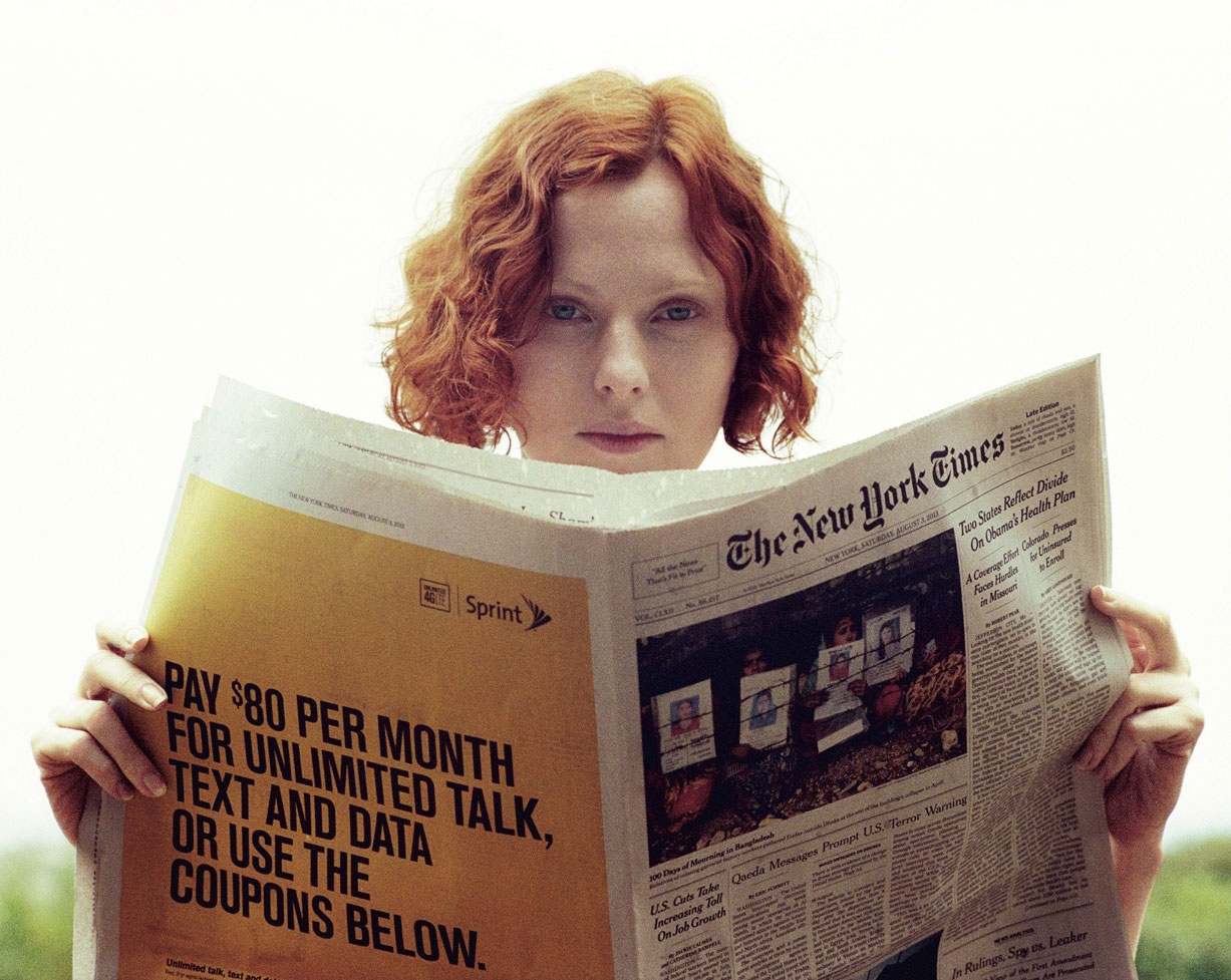 -Одинокая- Карен Элсон / Karen Elson by Theo Wenner in Double Magazine fall/winter 2013