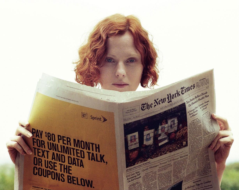 -Одинокая- Карен Элсон / Karen Elson by Theo Wenner in Double Magazine fall/winter 2013