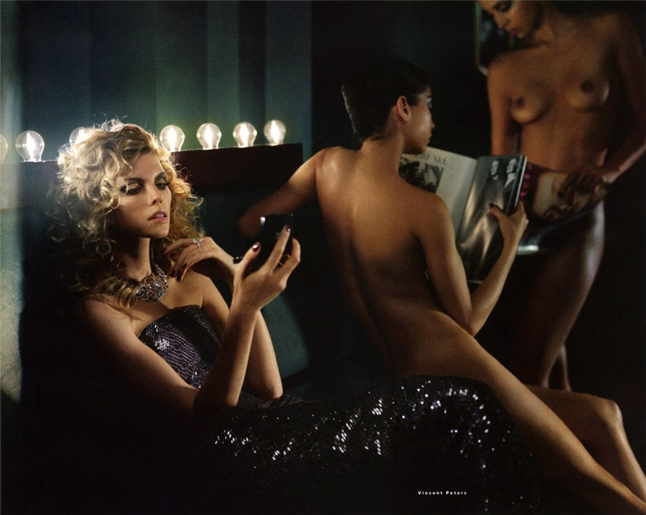 �������� �� ���������� ������ ����-������ � ������������ ������� ������ / Maryna Linchuk by Vincent Peters in Vogue Russia december 2013