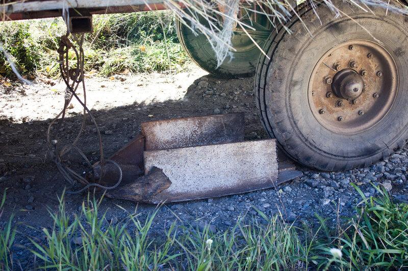тормоз у тракторного прицепа