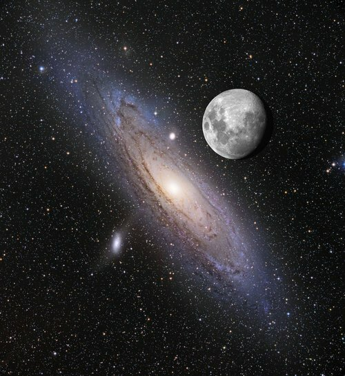 "Moon ""over"" Andromeda"