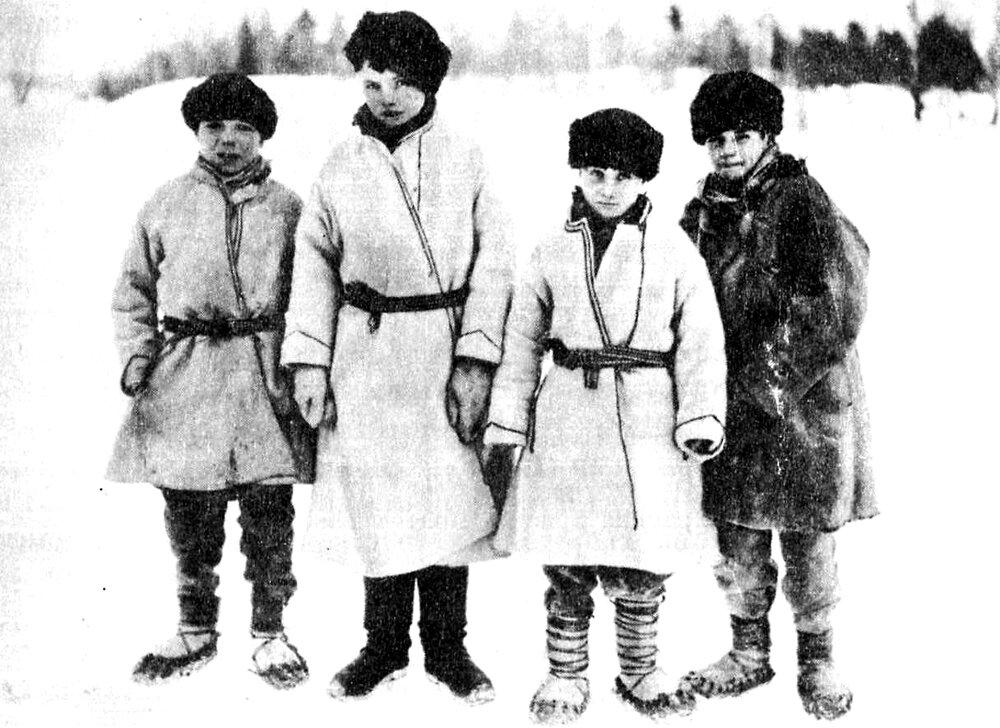Белорусские мальчики. Могилевская губ., Горецкий уезд