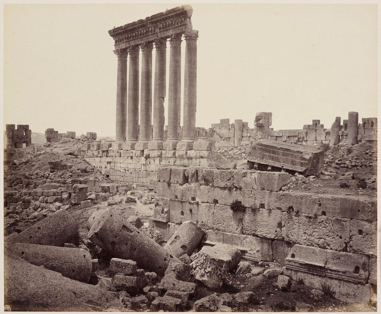 4 мая 1862. Большие колонны храма Солнца с юго-востока, Баальбек