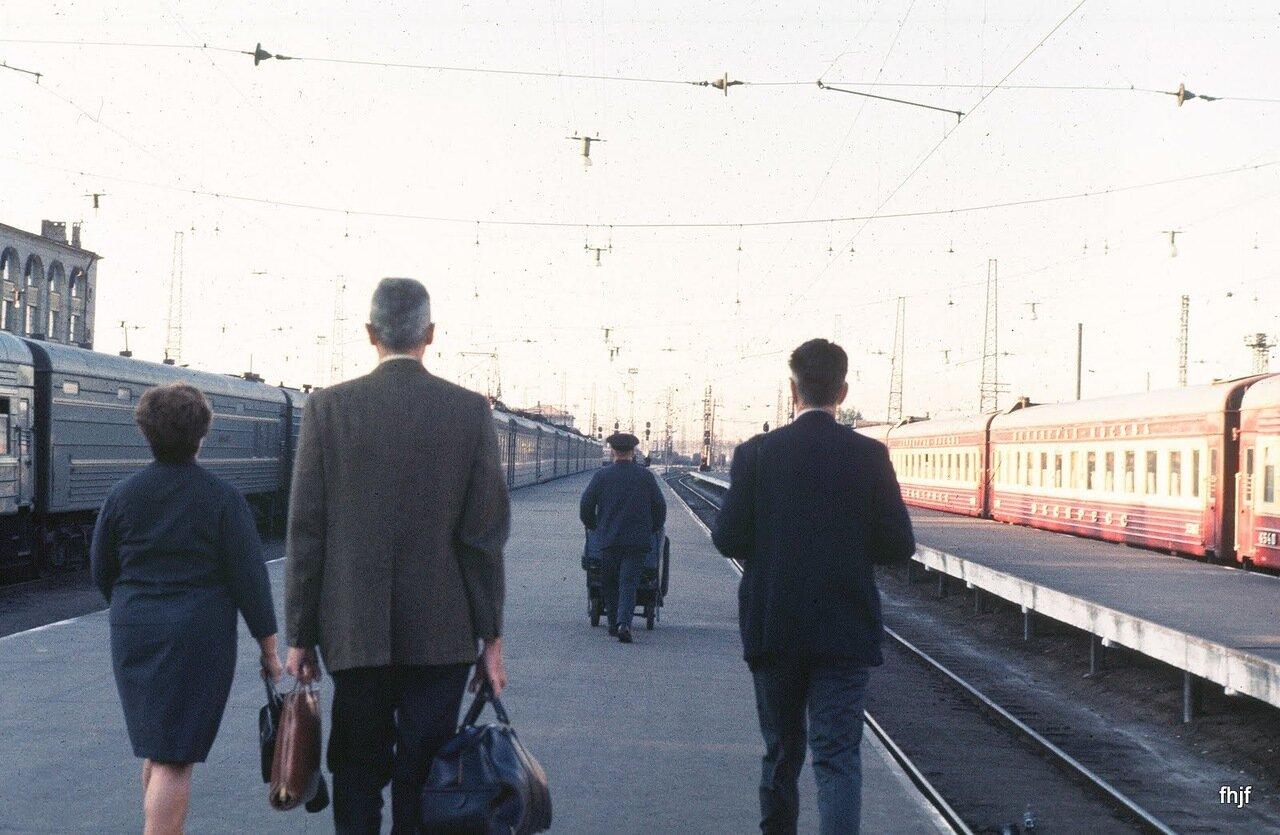 walking along sta platform