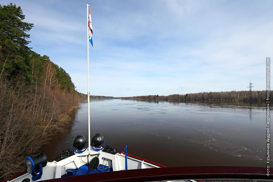 Река Вятка в районе Потрепухино Кировской области