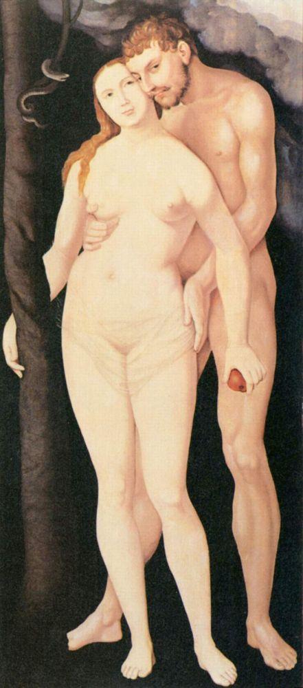 Адам и Ева. (1531-1535.) Ганс Бальдунг(1480-1545)