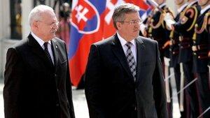 Spotkanie Bronisław Komorowskiego  z prezydentem Słowacji