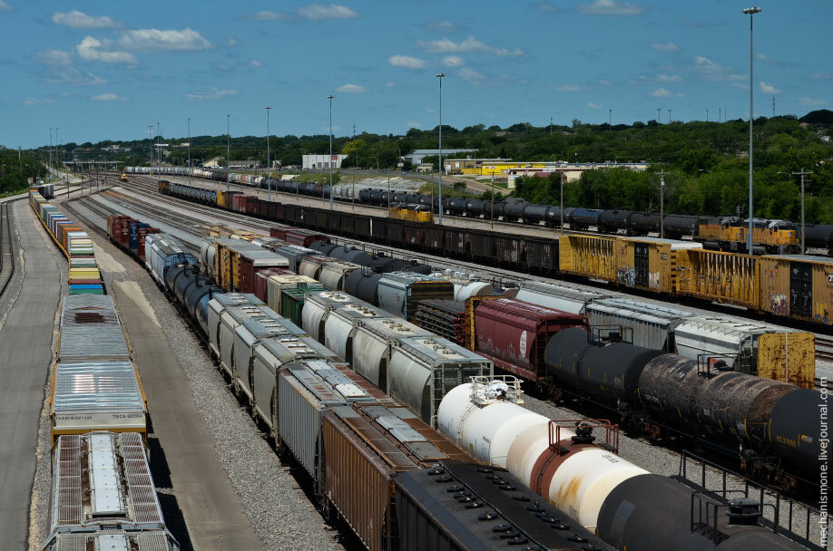Как устроена железнодорожная сортировочная станция в США