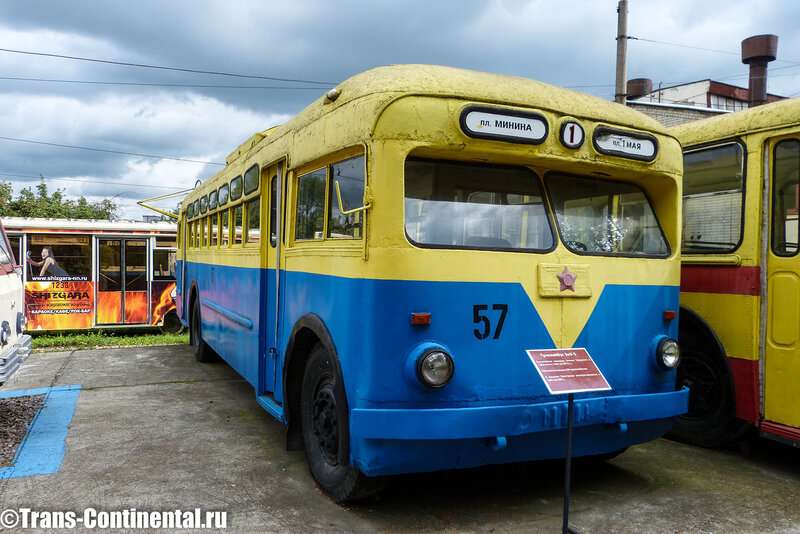 Музей трамваев в Нижнем Новгороде: Троллейбус МТБ-82 в музее электротранспорта в Нижнем Новгороде
