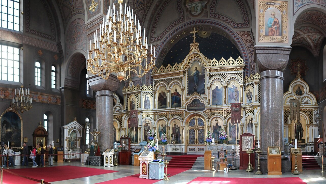 Helsinki. Uspensky Cathedral (Uspenskin, Uspenskij-katedralen)