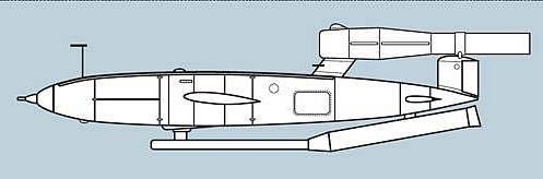 Дальность полета: 240км Скорость полета: 700 км/ч Масса боевой части: 800кг Точность попадания при дальности 240 км: +/- 8км Высота полета: до3000м Длина: 8417мм Размах крыльев: 5730мм