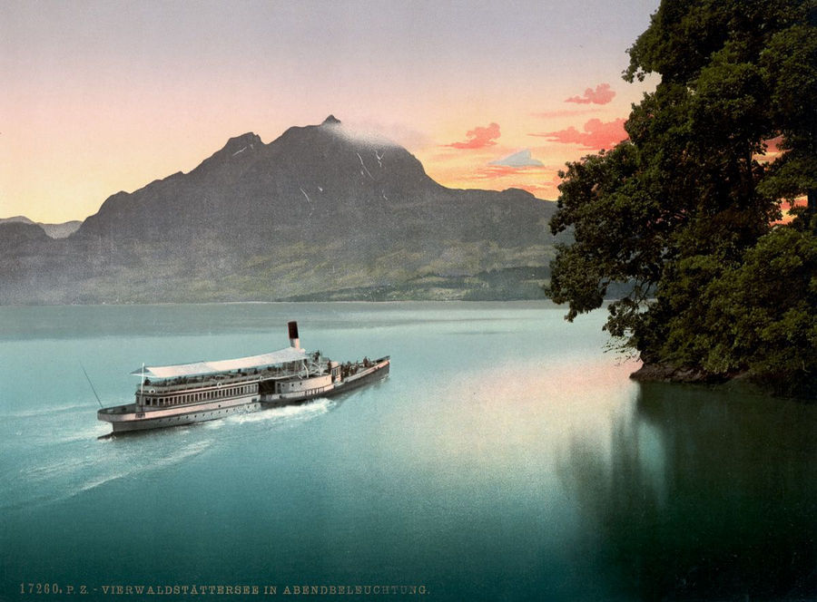 Великолепие Швейцарии в цветных открытках 1890 года