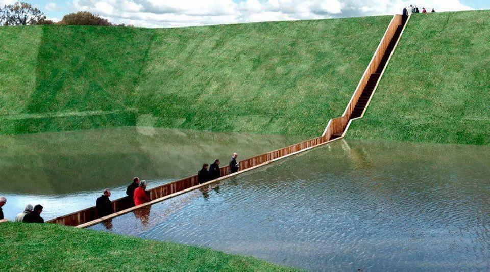 Все привыкли, что мосты строятся над объектами или водой. Однако голландские архитекторы хотели сдел