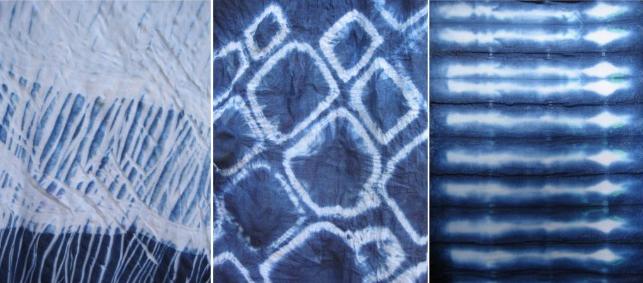Японская техника Шибори - окрашивание ткани